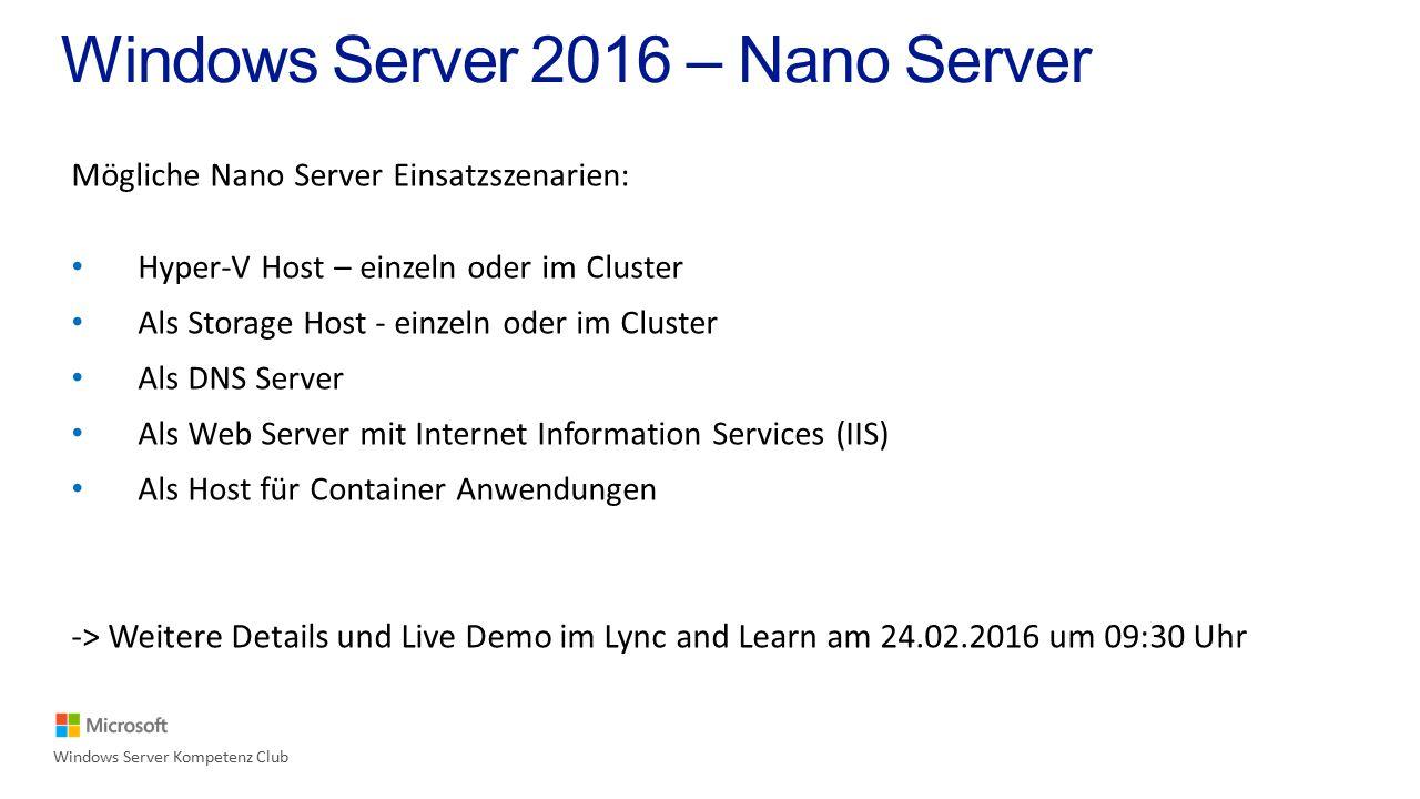 Windows Server & Container Windows Server Kompetenz Club