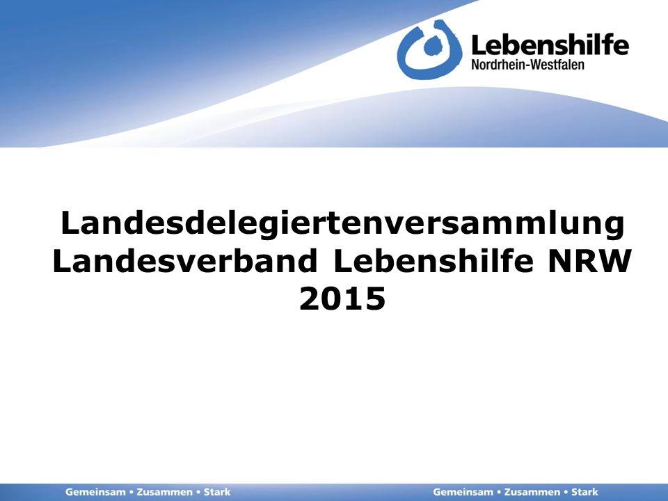 Landesdelegiertenversammlung Landesverband Lebenshilfe NRW 2015