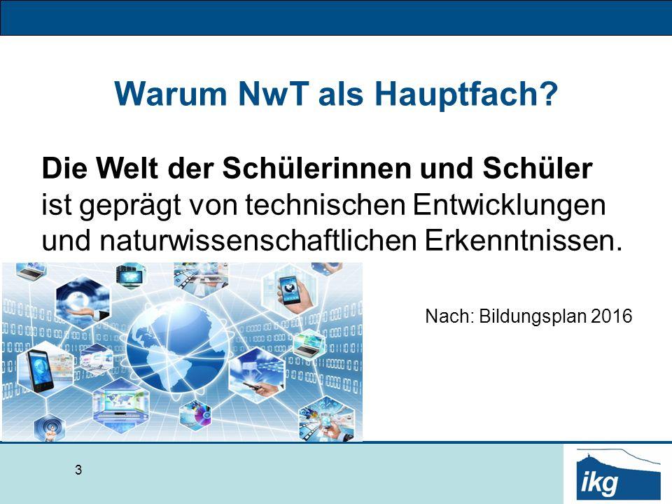 Bausteine des NwT-Unterrichts.