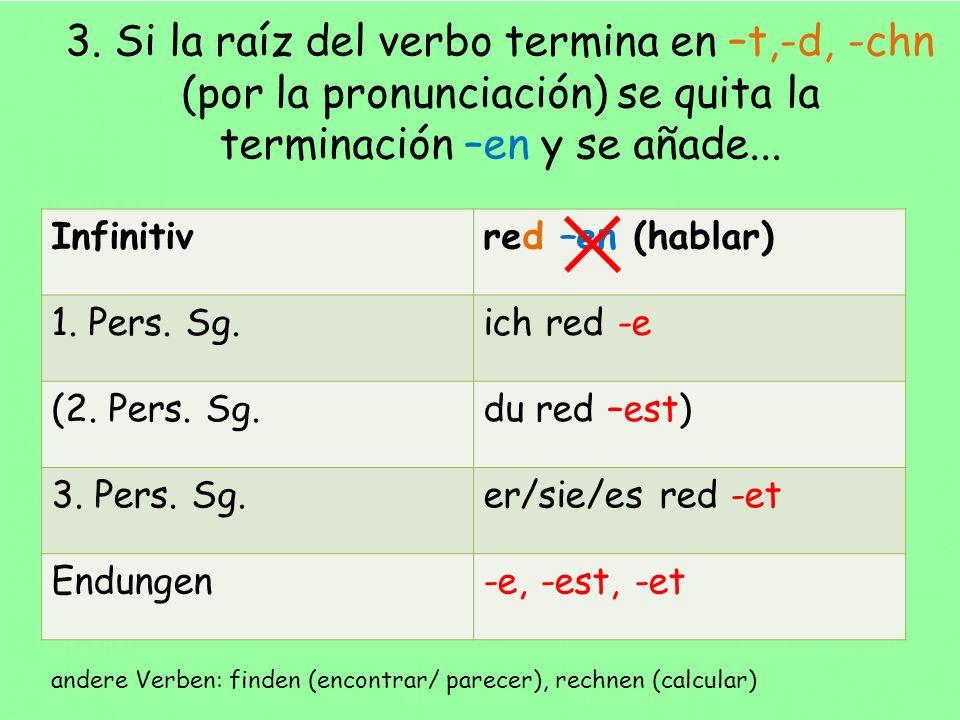 Unregelmäßige Verben – verbos irregulares Infinitivsein (ser) 1.
