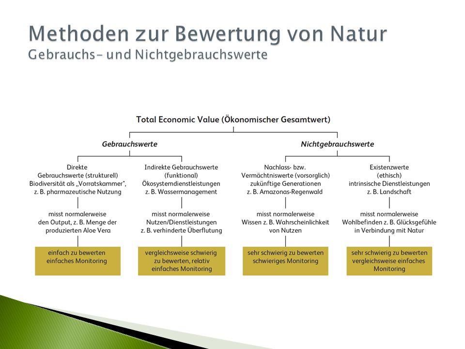  Ökosystemleistungen – ein Ansatz mit großem Potenzial für das nachhaltige Landschaftsmanagement, 2015  Die Bewertung von Ökosystemdienstleistungen und von Biodiversität.