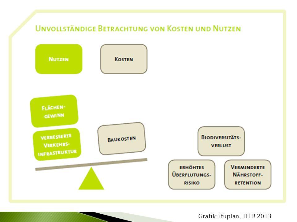 """ Ziel: Was """"kosten Ökosystemleistungen im Zusammenhang mit Infrastrukturprojekten."""