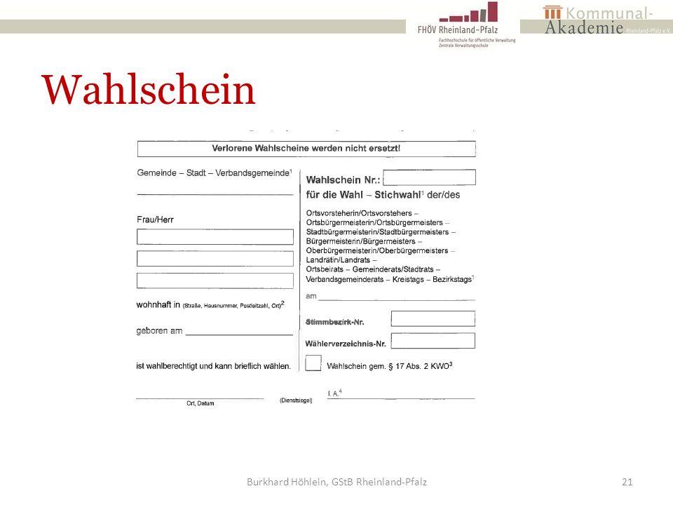 Wahlschein Burkhard Höhlein, GStB Rheinland-Pfalz21