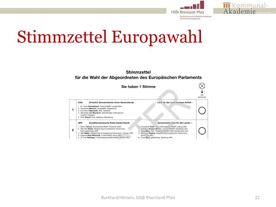 Stimmzettel Europawahl Burkhard Höhlein, GStB Rheinland-Pfalz22