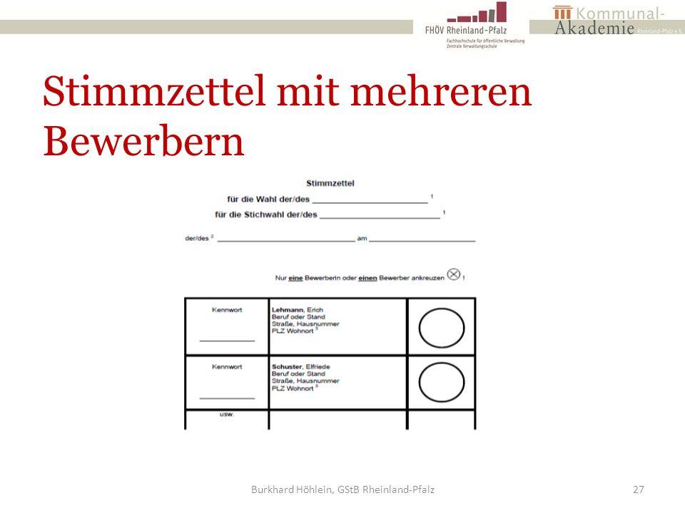 Stimmzettel mit mehreren Bewerbern Burkhard Höhlein, GStB Rheinland-Pfalz27