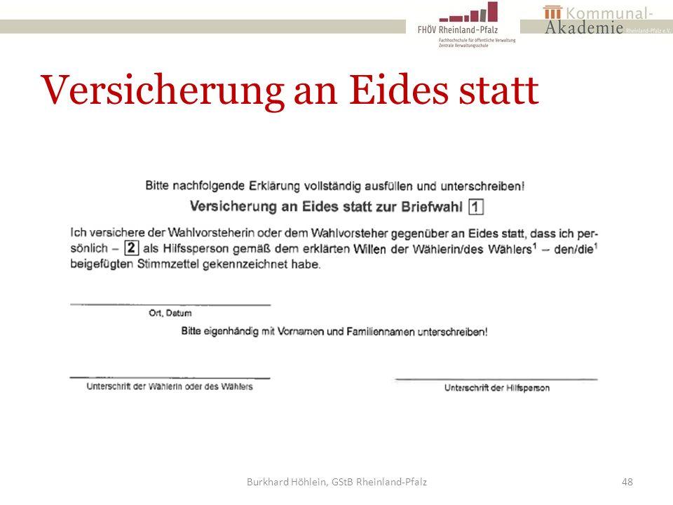 Versicherung an Eides statt Burkhard Höhlein, GStB Rheinland-Pfalz48