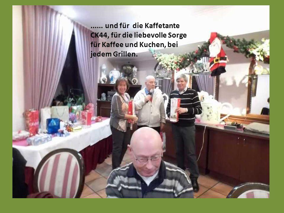 ein kleines Präsent gab es für den Grillmaster und Wanderführer Hasibär51 ………..