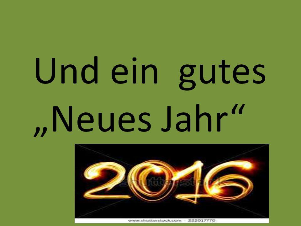 """Und ein gutes """"Neues Jahr"""