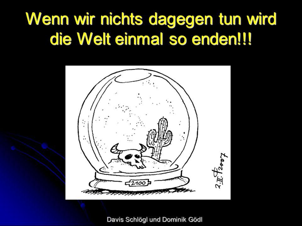 Wenn wir nichts dagegen tun wird die Welt einmal so enden!!! Davis Schlögl und Dominik Gödl