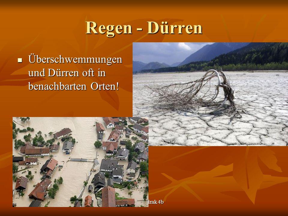 Regen - Dürren Überschwemmungen und Dürren oft in benachbarten Orten.
