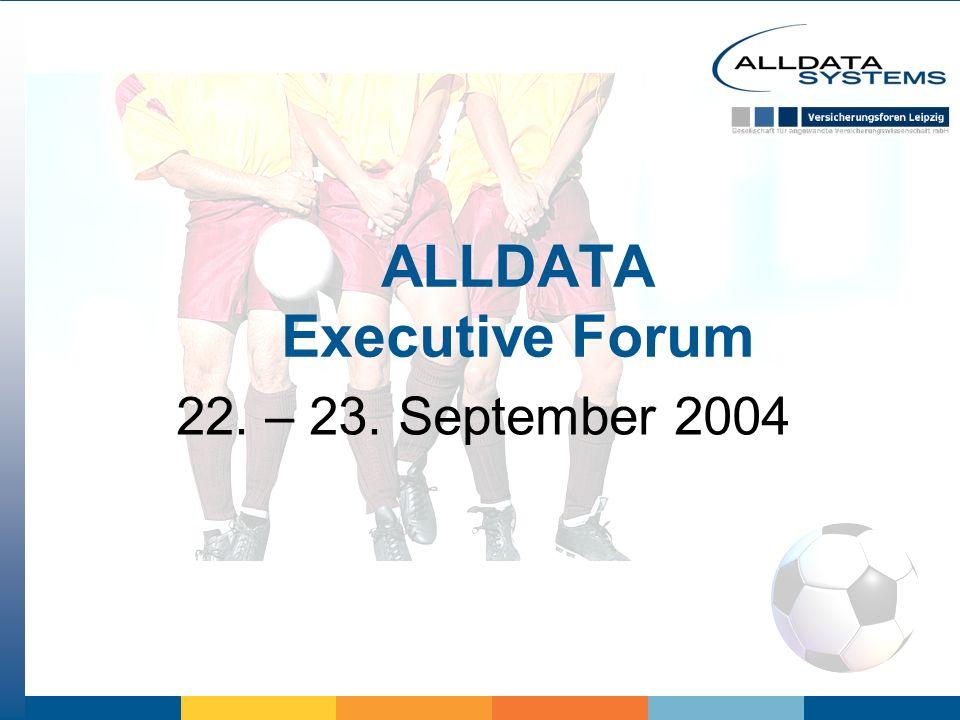ALLDATA Executive Forum 22. – 23. September 2004