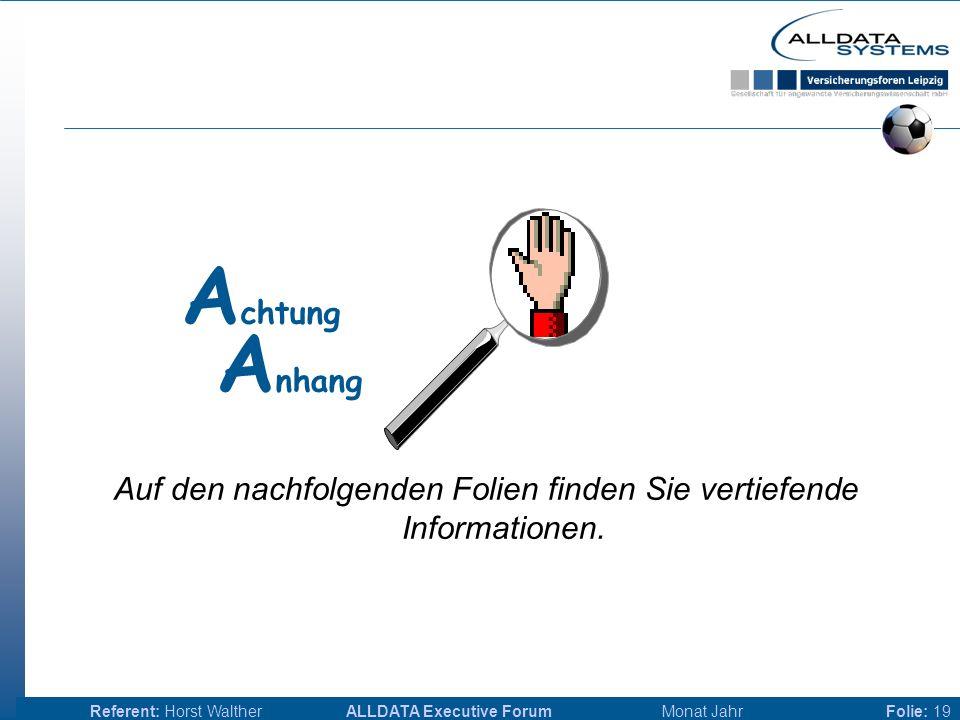 ALLDATA Executive Forum Monat JahrReferent: Horst WaltherFolie: 18 Aber...