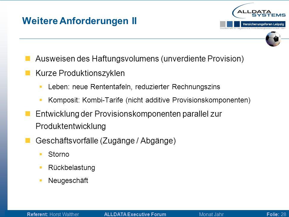 ALLDATA Executive Forum Monat JahrReferent: Horst WaltherFolie: 27 Weitere Anforderungen I Parallele Abbildung verschiedener Vertriebsstrukturen  Ban