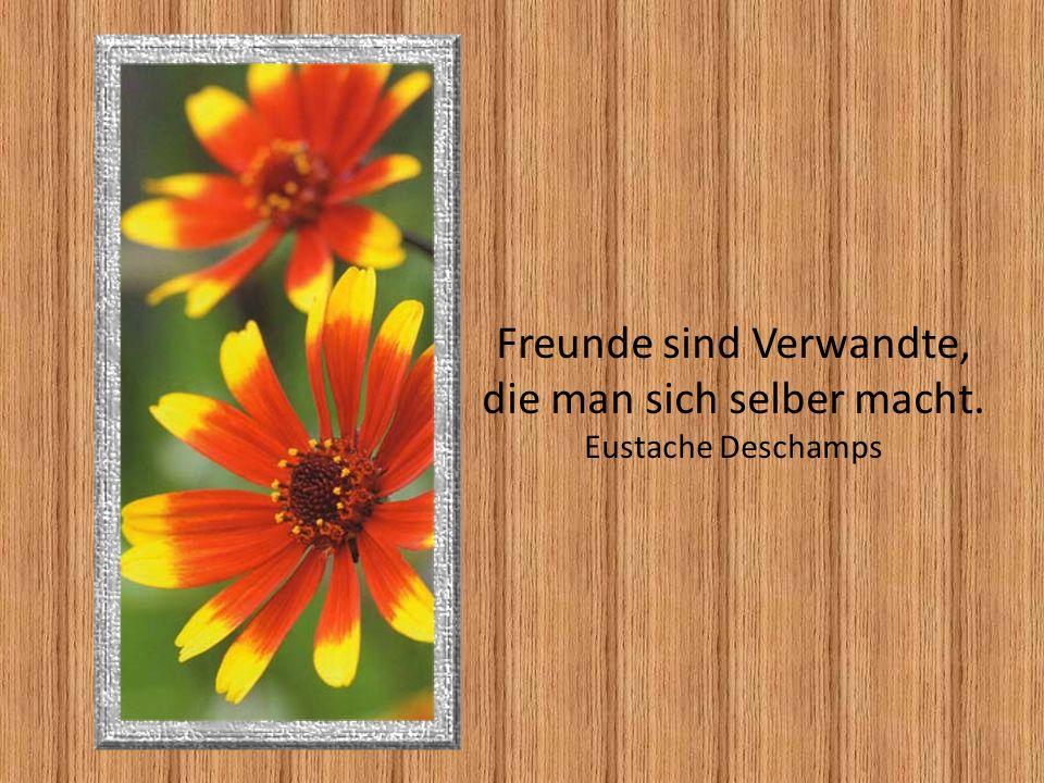 Freunde sind Verwandte, die man sich selber macht. Eustache Deschamps