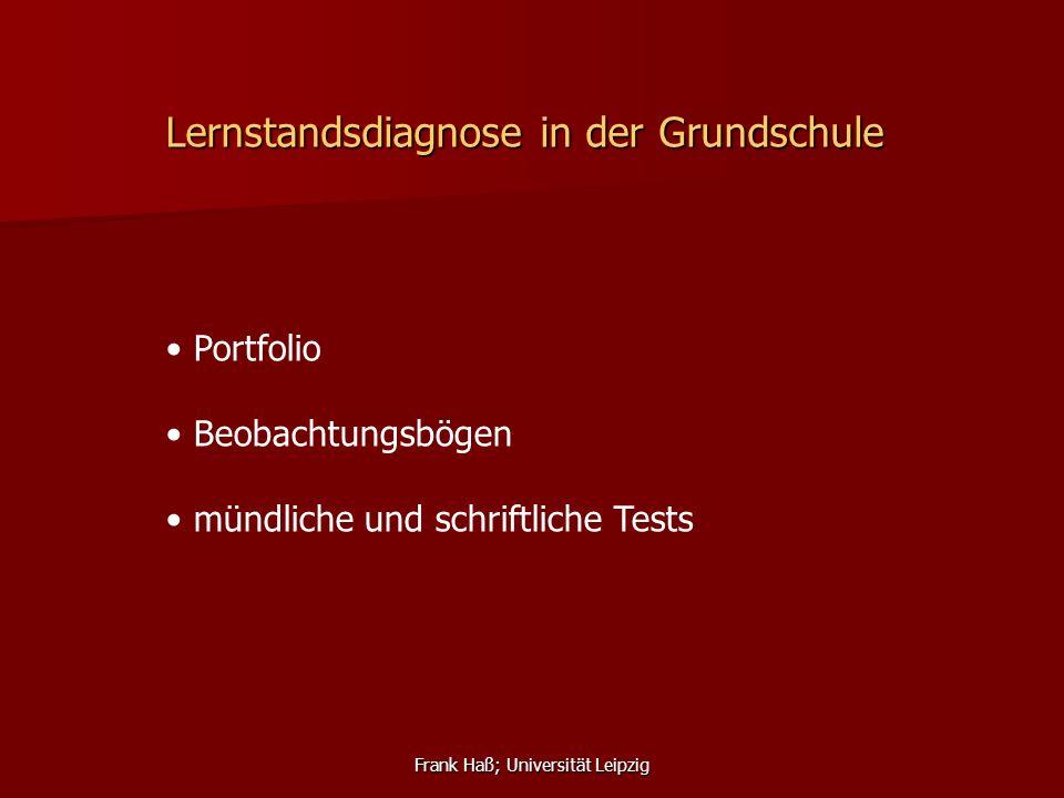 Frank Haß; Universität Leipzig Tests in der Grundschule Klasse 3/4 mündlich / praktisch: Listen and point.