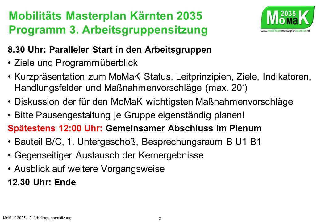 Mobilitäts Masterplan Kärnten 2035 Wo stehen wir im Projekt.