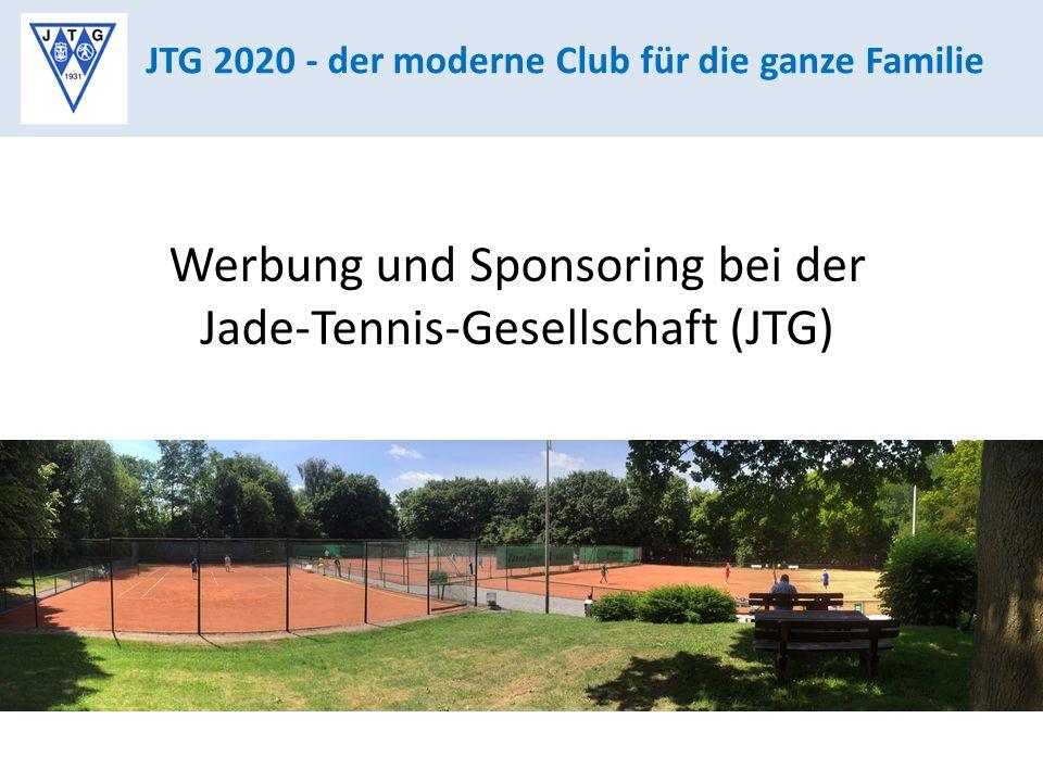 JTG 2020 - der moderne Club für die ganze Familie Werbung und Sponsoring bei der Jade-Tennis-Gesellschaft (JTG)