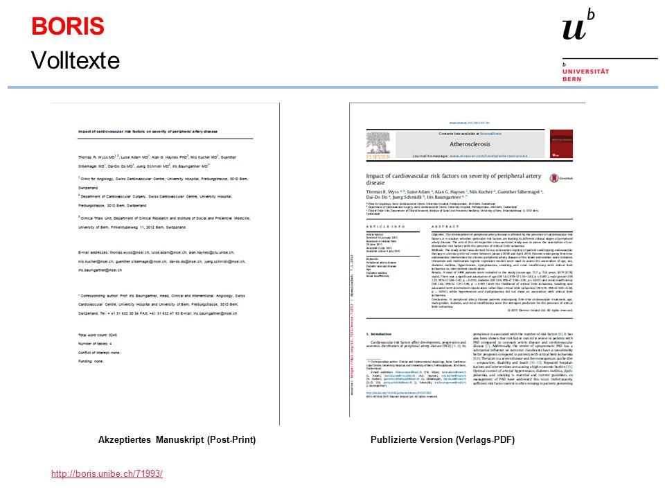 Akzeptiertes Manuskript (Post-Print)Publizierte Version (Verlags-PDF) BORIS Volltexte http://boris.unibe.ch/71993/