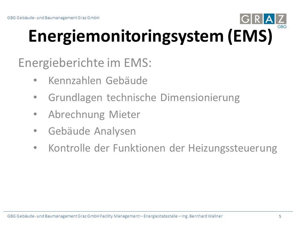GBG Gebäude- und Baumanagement Graz GmbH Facility Management – Energiestabsstelle – Ing.