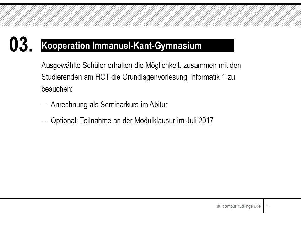 Ausgewählte Schüler erhalten die Möglichkeit, zusammen mit den Studierenden am HCT die Grundlagenvorlesung Informatik 1 zu besuchen:  Anrechnung als