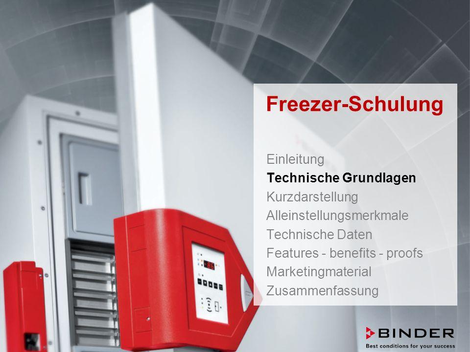ULTRA.GUARD™ UF-V Series -86°C Ultra-Low Temperature Freezers Februar 2014 STRICTLY CONFIDENTIAL - FOR COMPANY USE ONLY 66 6.16100 % nicht brennbares Kältemittel Maximierung der Prozesssicherheit UF V Serie  Beachten: andere Freezerhersteller setzen häufig firmenspezifische Kältemittelgemische ein, die nur über deren Service zu bekommen ist, was die Verfügbarkeit einschränkt und eine Abhängigkeit schafft.