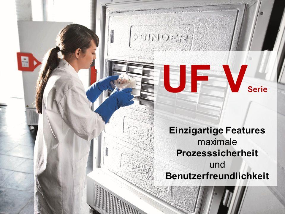 UF V Serie Einzigartige Features maximale Prozesssicherheit und Benutzerfreundlichkeit