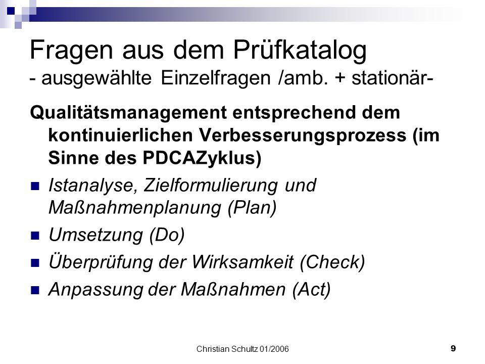 Christian Schultz 01/20068 Fragen aus dem Prüfkatalog - Kunden - Risikomanagement  Thrombose, Kontraktur, Sturz, Dekubitus, Soor-Parotitis, Pneumonie