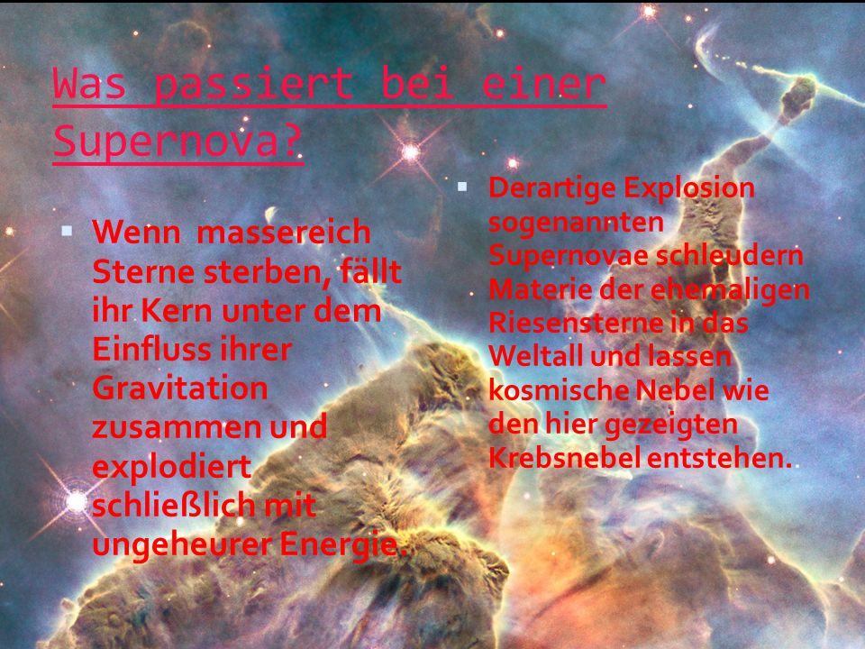 Was passiert bei einer Supernova.