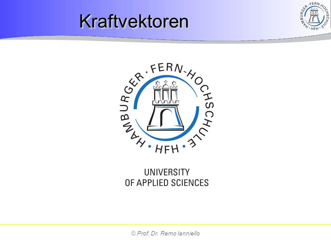 © Prof. Dr. Remo Ianniello KraftvektorenKraftvektoren