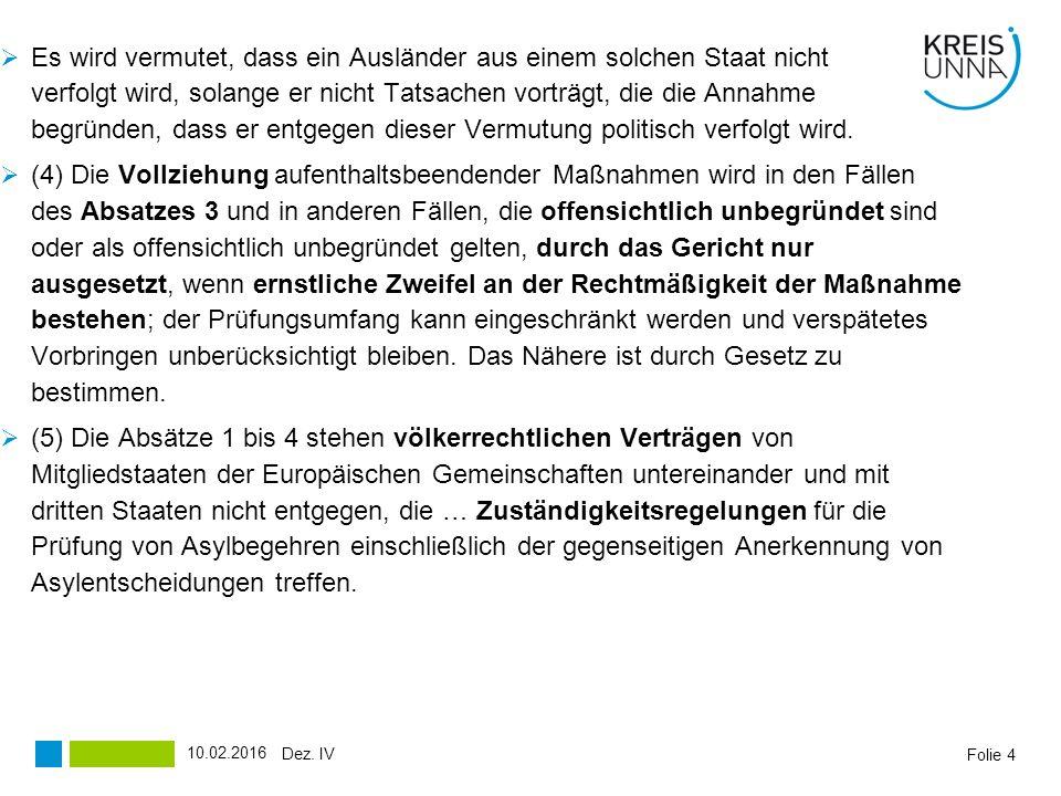 Folie 25 Verteilung der Asylbewerber in den Kreis Unna gemäß FlüAG Stand: 30.09.2015 Dez.