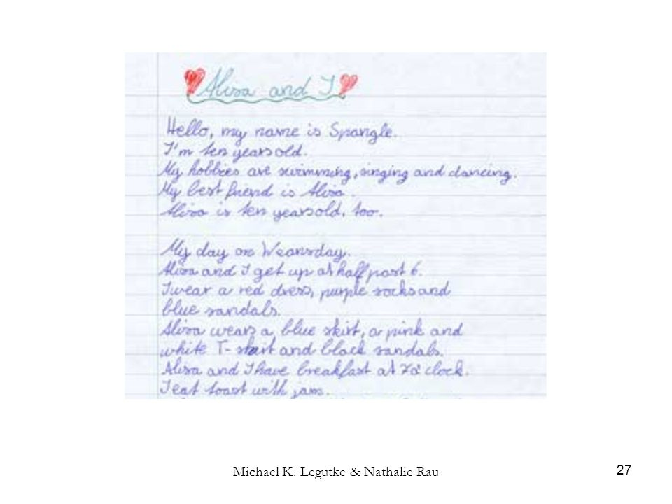 Michael K. Legutke & Nathalie Rau 27