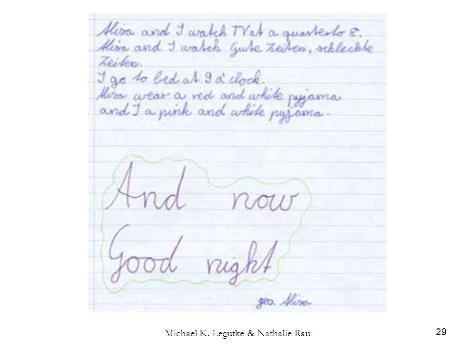 Michael K. Legutke & Nathalie Rau 29