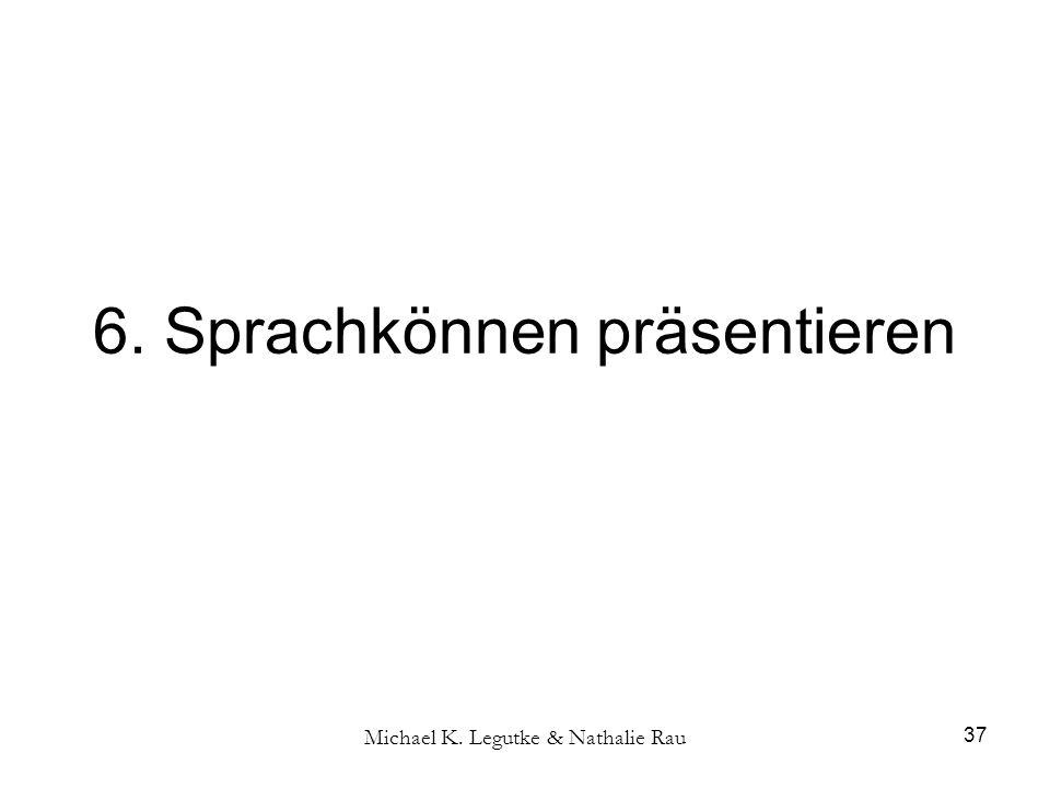 Michael K. Legutke & Nathalie Rau 37 6. Sprachkönnen präsentieren