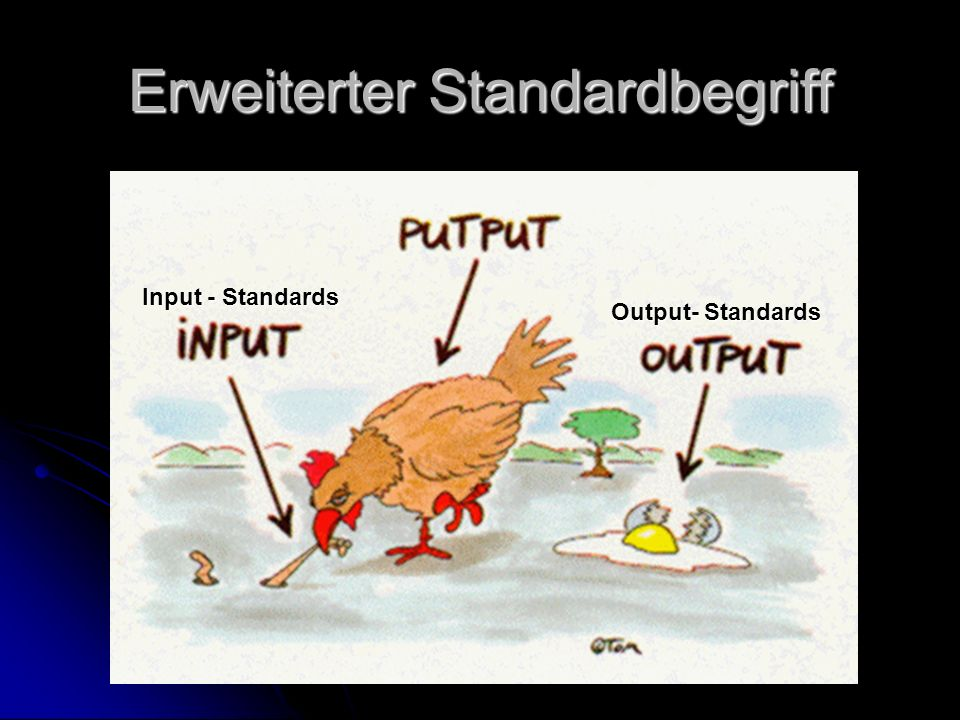 Frank Haß; Universität Leipzig Erweiterter Standardbegriff Input - Standards Output- Standards