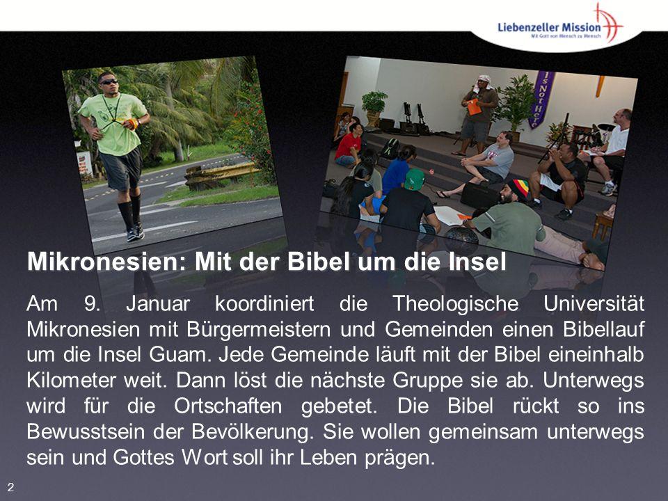 Mikronesien: Mit der Bibel um die Insel Am 9.