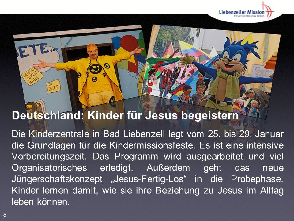 Deutschland: Kinder für Jesus begeistern Die Kinderzentrale in Bad Liebenzell legt vom 25.