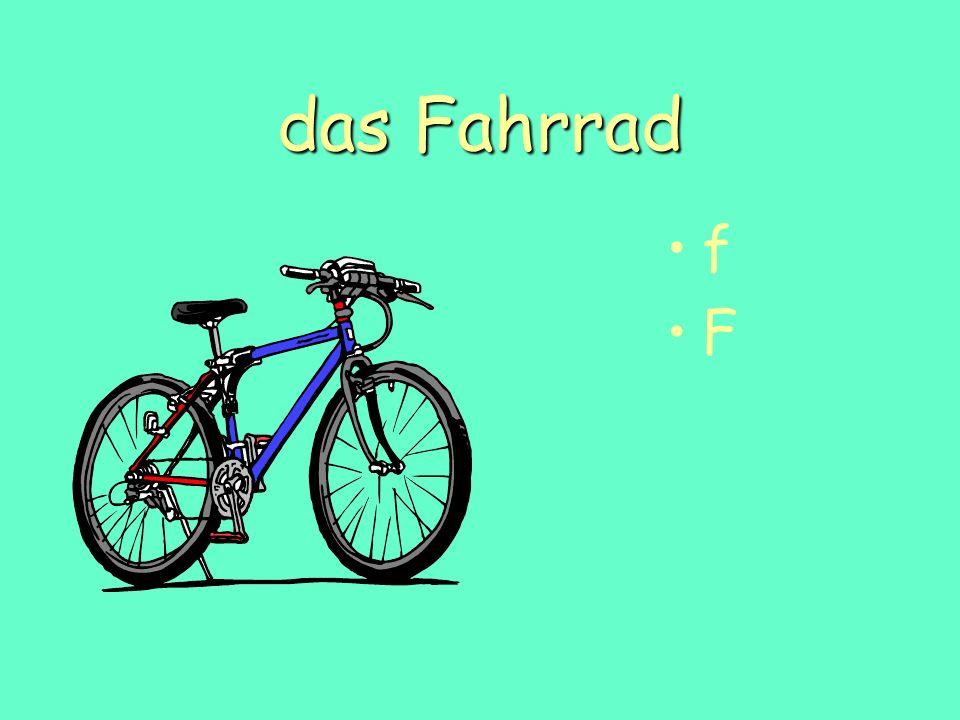 das Fahrrad f F