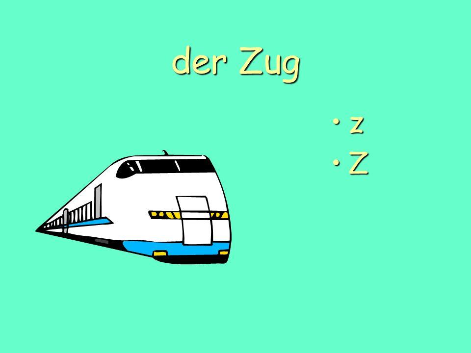 der Zug z Z
