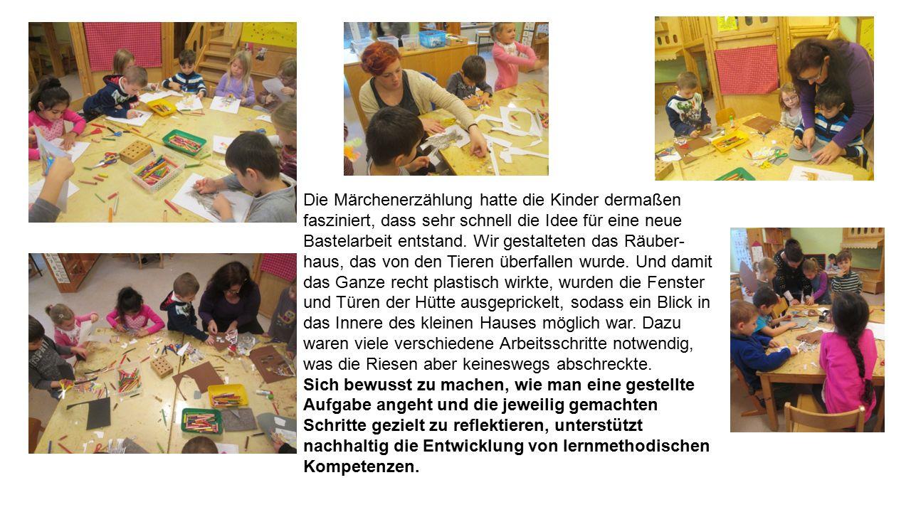 Zur weiteren Vertiefung des Märchen gestalteten die Kinder dann eine Klanggeschichte.