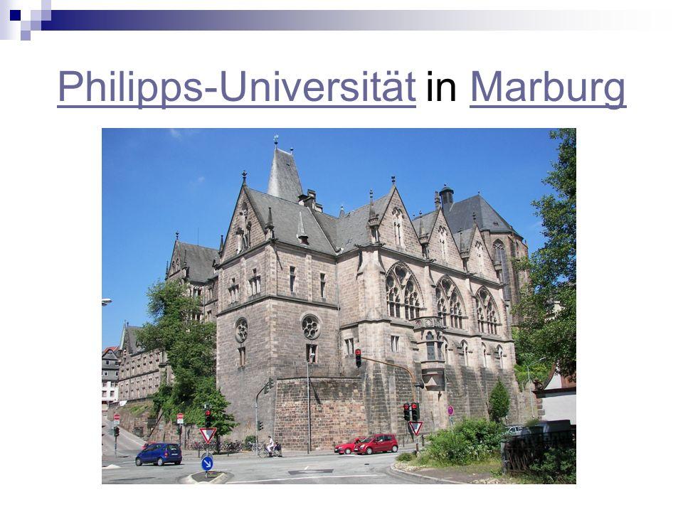 Philipps-UniversitätPhilipps-Universität in MarburgMarburg