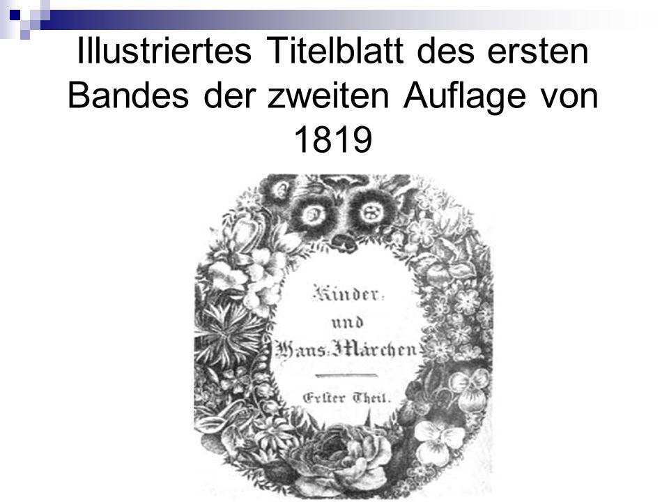 Illustriertes Titelblatt des ersten Bandes der zweiten Auflage von 1819