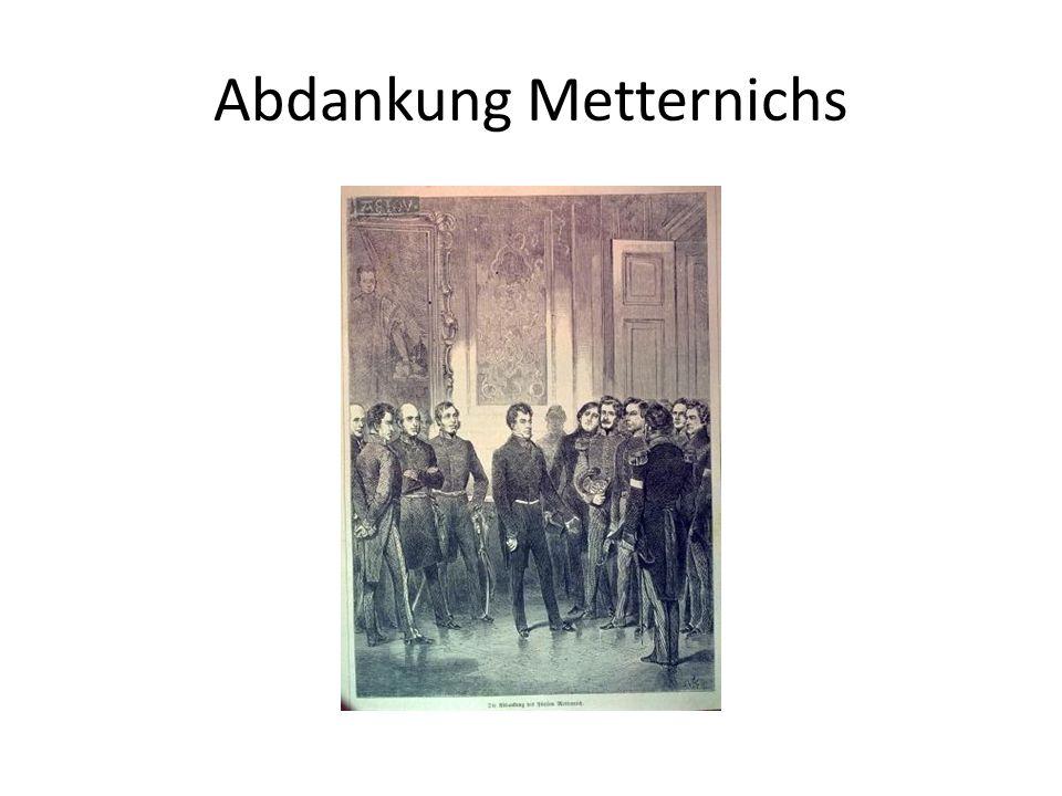 Abdankung Metternichs