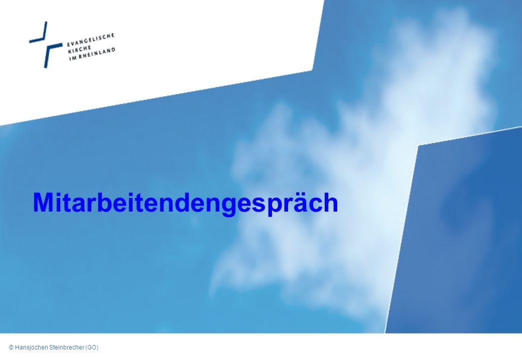 © Hansjochen Steinbrecher (GO) Mitarbeitendengespräch