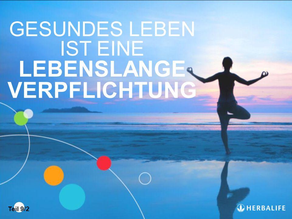 GESUNDES LEBEN IST EINE LEBENSLANGE VERPFLICHTUNG Teil 9/2