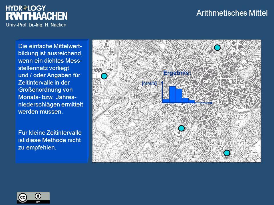 Univ.-Prof. Dr.-Ing. H. Nacken Bonner Niederschlagsradar