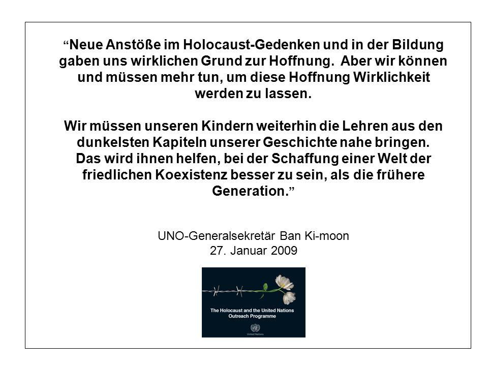 Neue Anstöße im Holocaust-Gedenken und in der Bildung gaben uns wirklichen Grund zur Hoffnung.