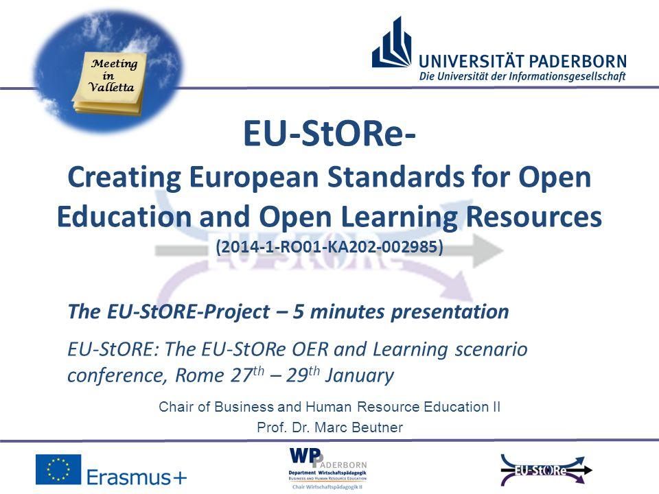 5 minute presentation - University of Paderborn -