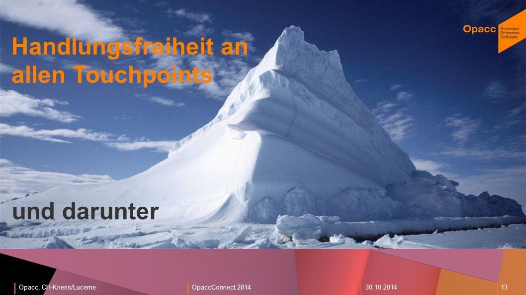 Opacc, CH-Kriens/LucerneOpaccConnect 201430.10.2014 13 EnterpriseShop und darunter Handlungsfreiheit an allen Touchpoints