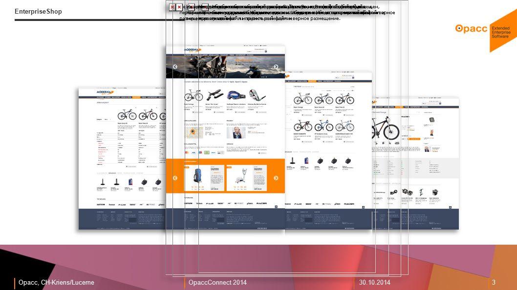 Opacc, CH-Kriens/LucerneOpaccConnect 201430.10.2014 3 EnterpriseShop