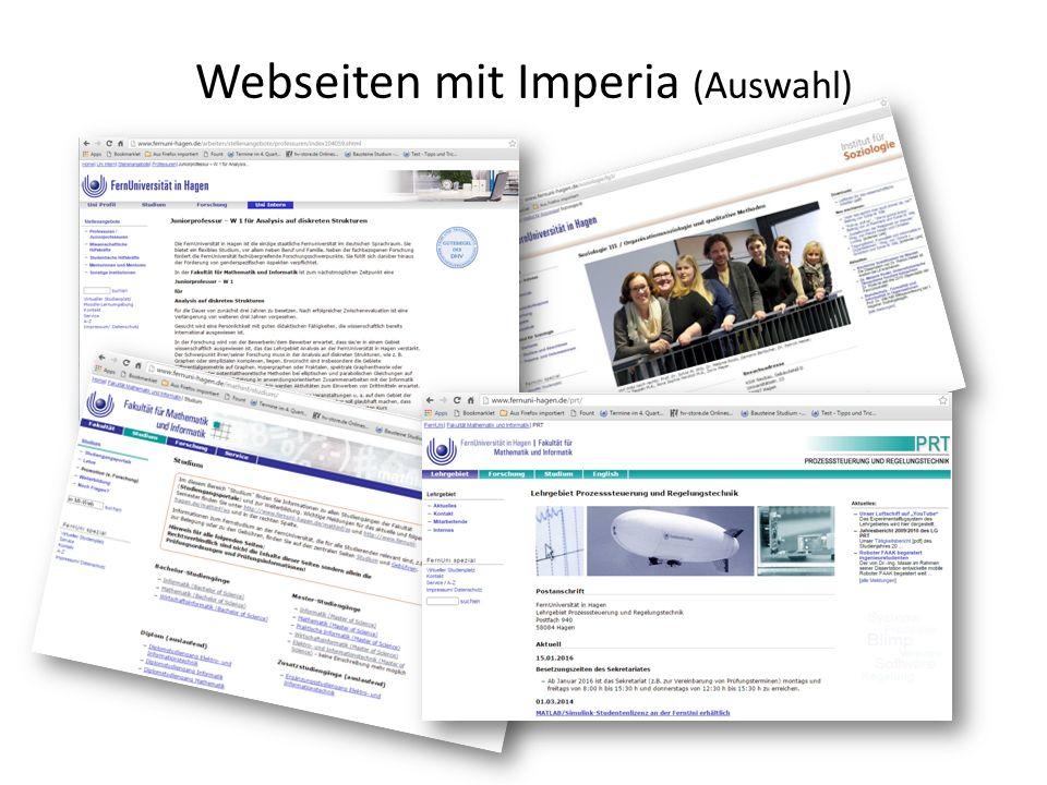 Webseiten mit Imperia (Auswahl)